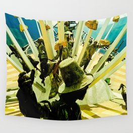 Power, struggle and survival. Wall Tapestry