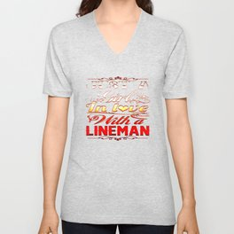 In love with a Lineman Unisex V-Neck