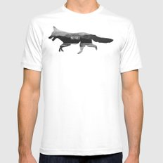 Be Free White Mens Fitted Tee MEDIUM