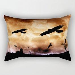 Crows and clouds Rectangular Pillow