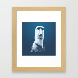 Moai #1 Framed Art Print