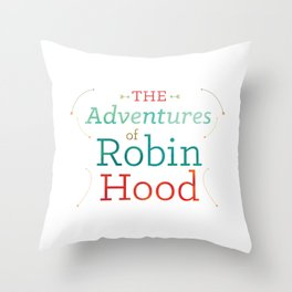 The Adventures of Robin Hood · Illustration Title Throw Pillow