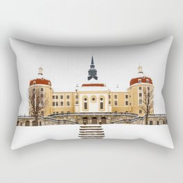 Fairy tale Castle - Moritzburg winter time Rectangular Pillow