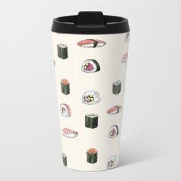 Sushi Pattern Metal Travel Mug