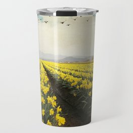 fields of daffodils Travel Mug