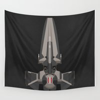 sith Wall Tapestries featuring Sith Infiltrator  by IX Studio