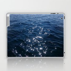 Sparkly Deep Blue Sea Waves Laptop & iPad Skin