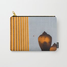 Urban Light with building and airplane at LACMA Los Angeles California USA Carry-All Pouch