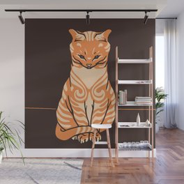 Sitting cat Wall Mural