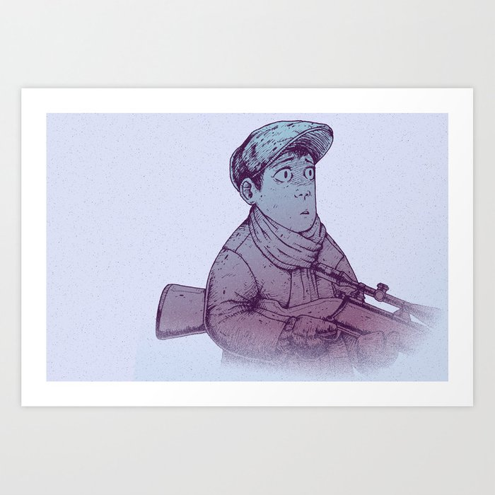 Winter Hunt - Shot Art Print