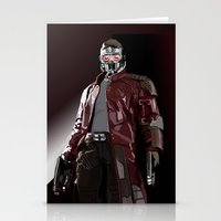 star lord Stationery Cards featuring Star Lord Fan Art by Vito Fabrizio Brugnola