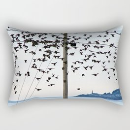 Birds in Flight Rectangular Pillow