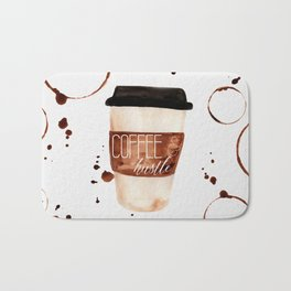 Coffee and Hustle on the Go Bath Mat