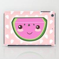 kawaii iPad Cases featuring Kawaii Watermelon by Pati Designs