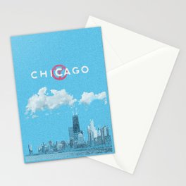 Chicago - Light blue Stationery Cards
