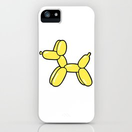 Yellow Balloon Dog iPhone Case