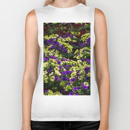 Waves of Petunias Biker Tank