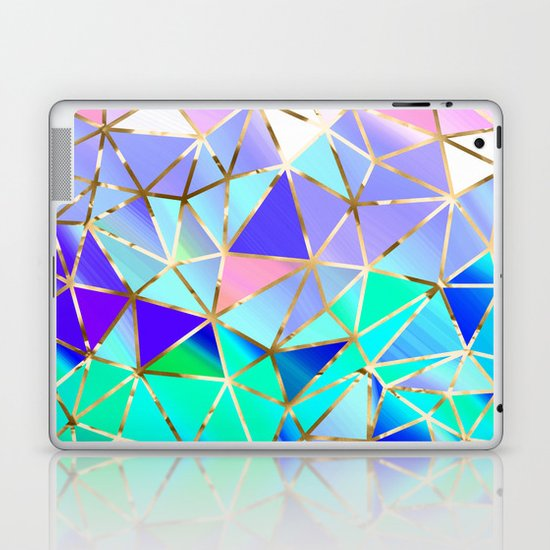 Rainbow Geometric Pattern 6 Laptop Amp Ipad Skin By Juliana