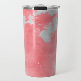 pink marble pattern Travel Mug