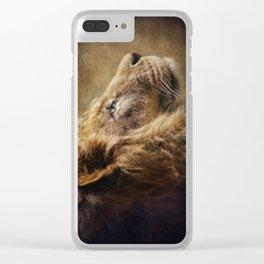 The Lion Portrait Clear iPhone Case
