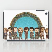 stargate iPad Cases featuring Cast of Stargate Atlantis by Ravenno