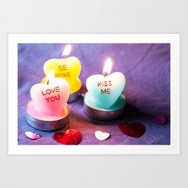 Valentines Candles Photography Print Art Print