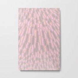 Organic Abstract Cappuccino Neutral Metal Print