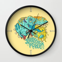 Jurassick Puke Wall Clock
