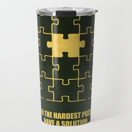 Lab No. 4 -Even The Hardest Puzzles Have A Solution Corporate Start-Up Quotes Travel Mug