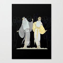 """Opening Night Fashion"" Art Deco Design Canvas Print"