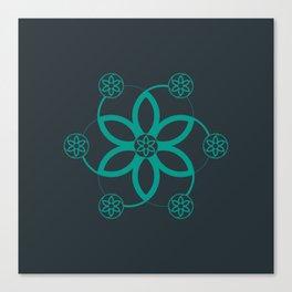 Evolution | Alien crop circle | Sacred geometry Canvas Print