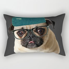 Pug Life ( Hipster ) Rectangular Pillow