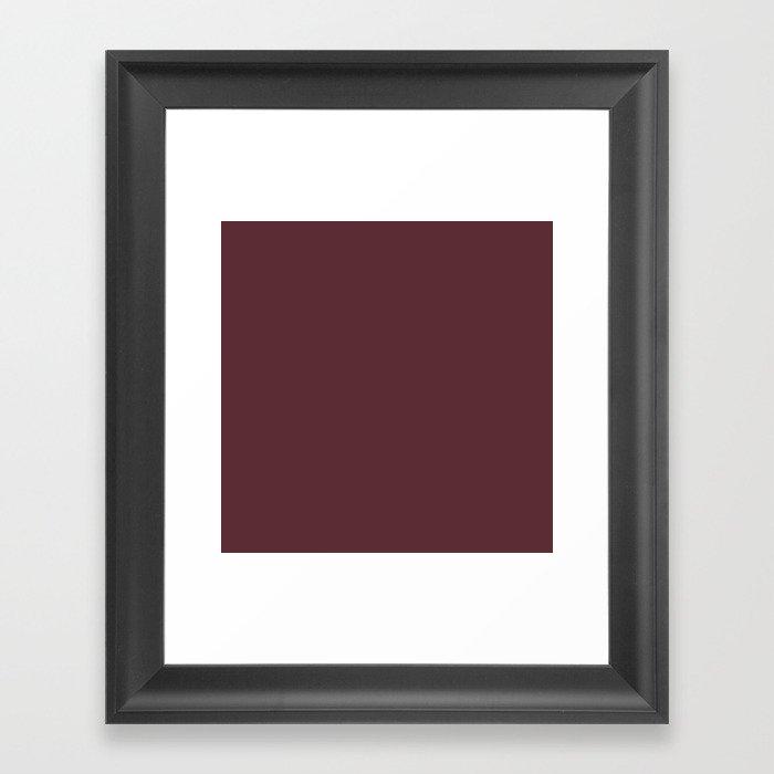 "Marsala burgundy ""Tawny Port"" pantone color Gerahmter Kunstdruck"