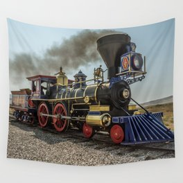 Central Pacific Railroad Jupiter at Golden Spike National Historic Site Utah Transcontinental Wall Tapestry