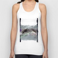 70s Tank Tops featuring T-70s Under Attack by Neil A Brady