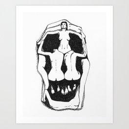 Skull by Salvador Dali Art Print
