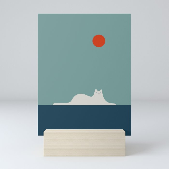 Cat Landscape 95 Mini Art Print