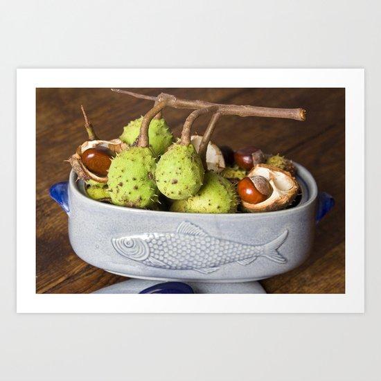 Fresh Chestnuts - AUTUMN STILL LIFE Art Print