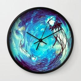 Twin Flame // Jellyfish Art // Jellyfish Painting Wall Clock