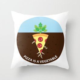 Pizza is a Vegetable Throw Pillow
