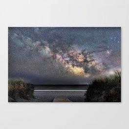 Sea of Stars at the beach Canvas Print
