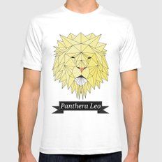 Panthera Leo Mens Fitted Tee MEDIUM White