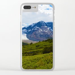 View along the Wilcox Pass Hike in Jasper National Park, Canada Clear iPhone Case