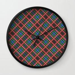Scottish Tartan  Wall Clock