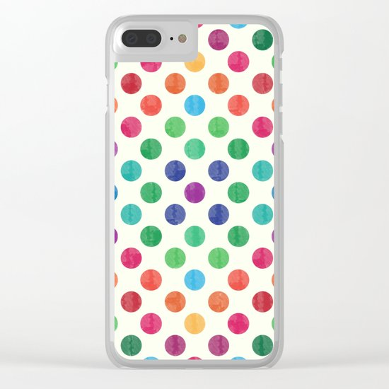 Lovely Dots Pattern III Clear iPhone Case