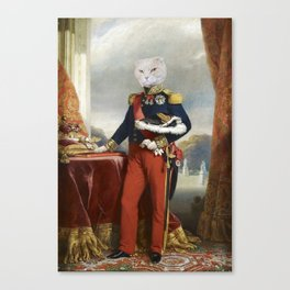 Cat - 18th century - oil on canvas - Instant Download Poster Canvas Print