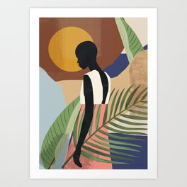 Tropical Girl 2 Art Print