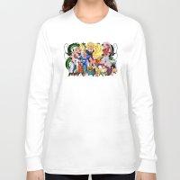 saga Long Sleeve T-shirts featuring DBZ - Buu Saga by Mr. Stonebanks