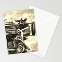 Vickers Machine Gun Vintage Stationery Cards