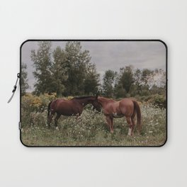 Horses in The Field Laptop Sleeve
